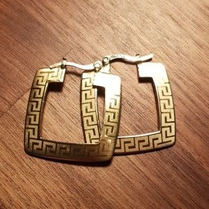 Unique tribal earrings gold